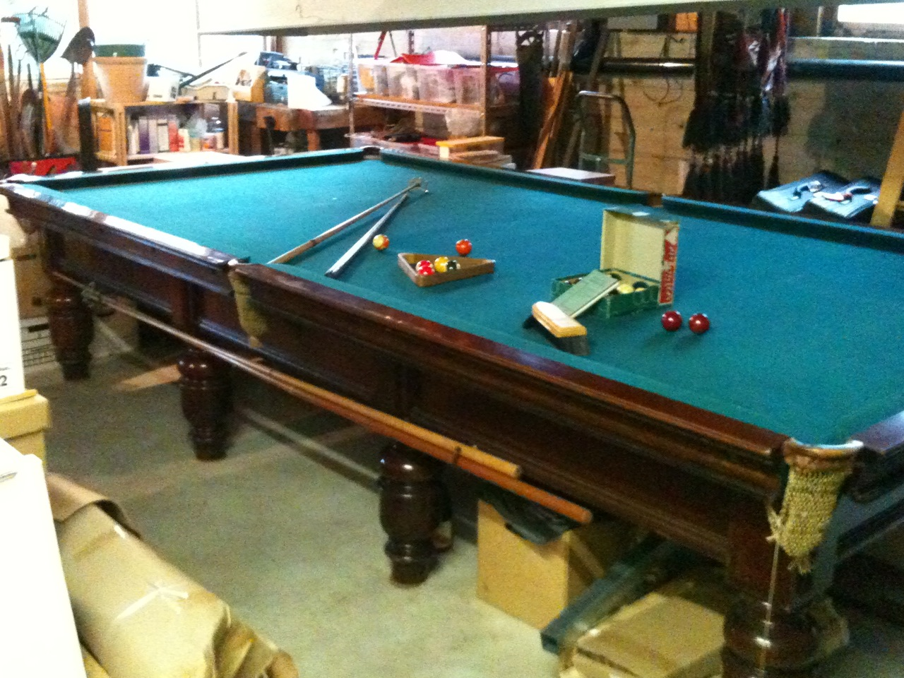 Brunswick billiards table circa 1910 revision interiors for Brunswick pool tables