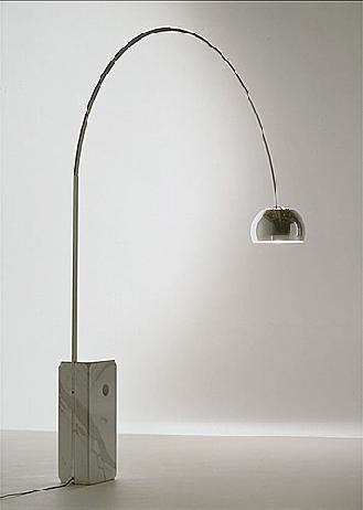 arco lamp by achille castiglioni