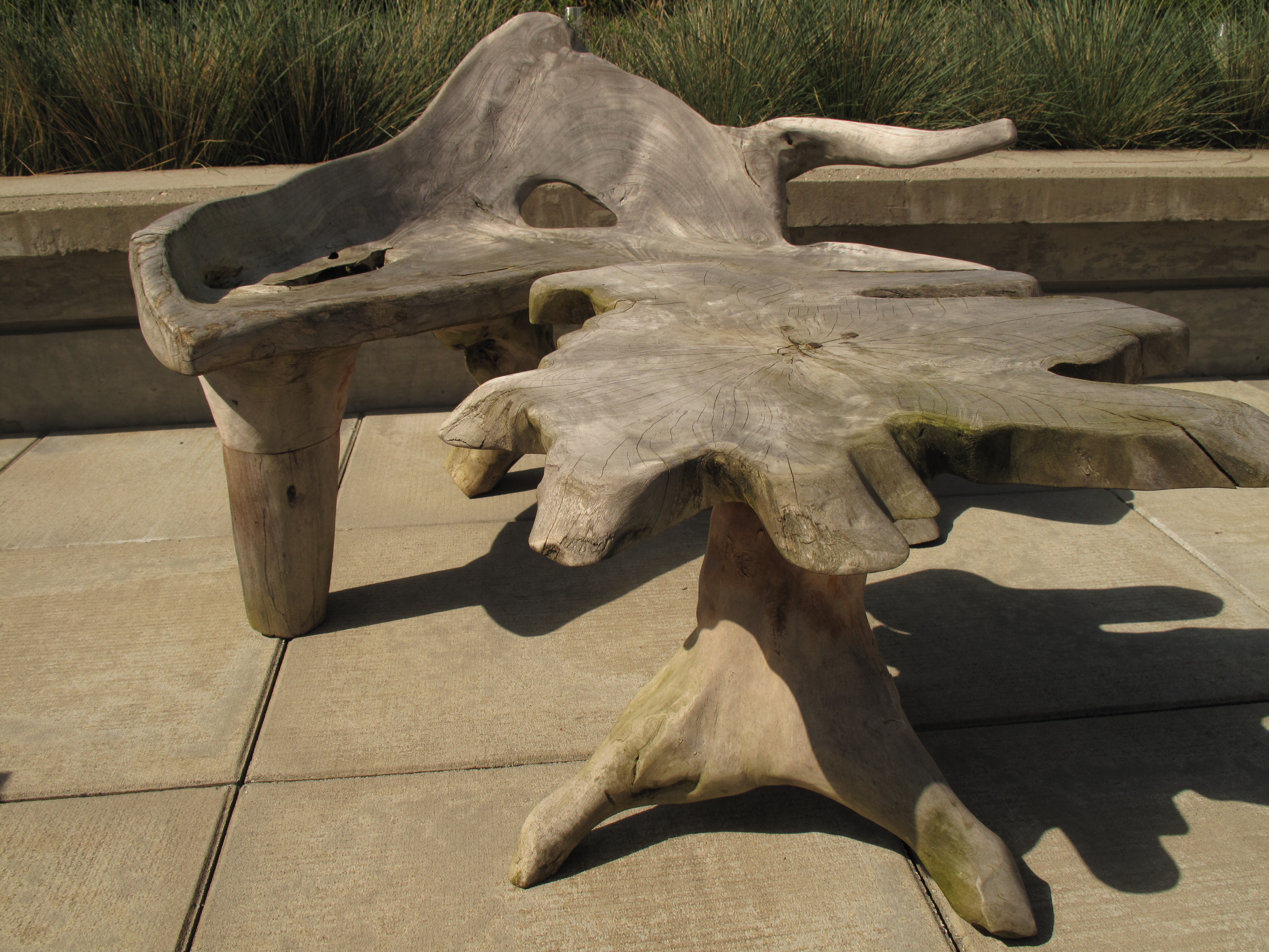 For Sale: Custom Driftwood Outdoor Chair   Table | Revision Interiors for Driftwood Outdoor Furniture  181plt